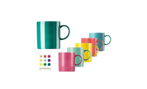 Thomas Porzellan Sunny Day colours Kaffeebecher Becher 6er Set bunt gemischt Set 2
